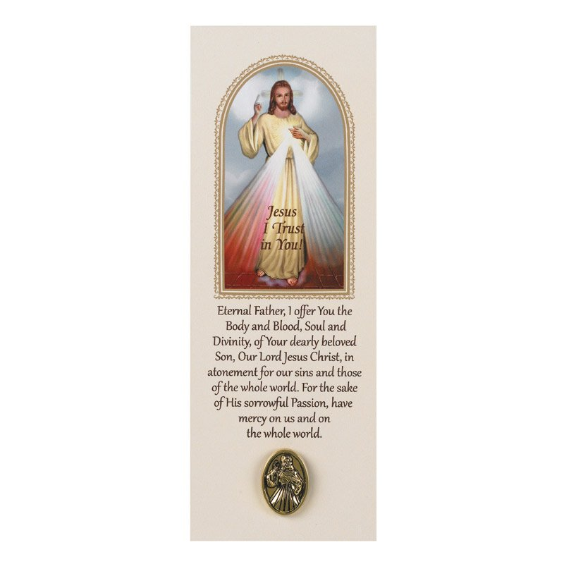 Divine Mercy Lapel Pin with Bookmark - 12/pk