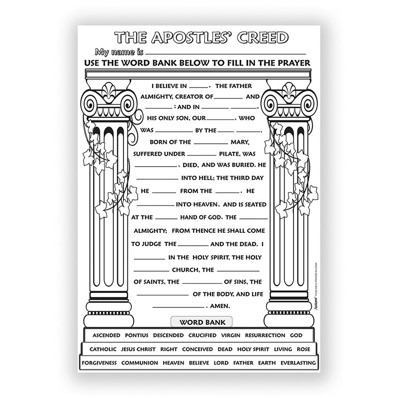 Catholic Crafts Novelties Color Your Own Posters Coloring Autom
