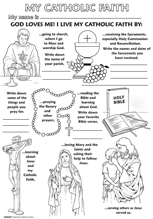 Color Your Own Poster - My Catholic Faith - 50/pk
