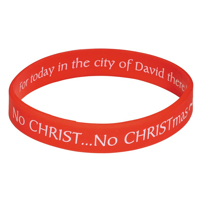 Adoring Santa Know CHRISTmas Bracelet - 24/pk