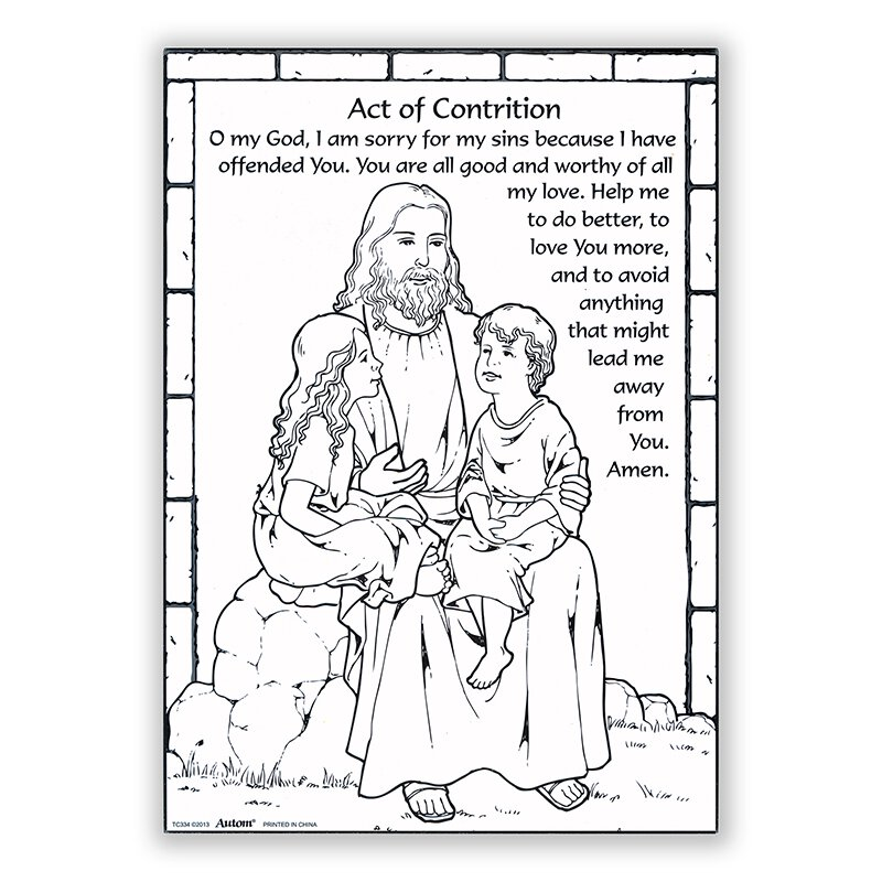 Witty image regarding act of contrition prayer printable