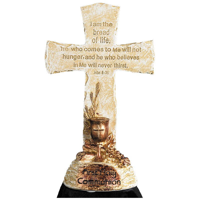 Bread of Life First Communion Standing Cross - Sacramental