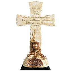 Bread of Life First Communion Standing Cross