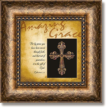 Amazing Grace Ephesians 2:8 Framed Wall Art
