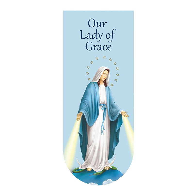 Our Lady of Grace Magnetic Folding Bookmark - 24/pk