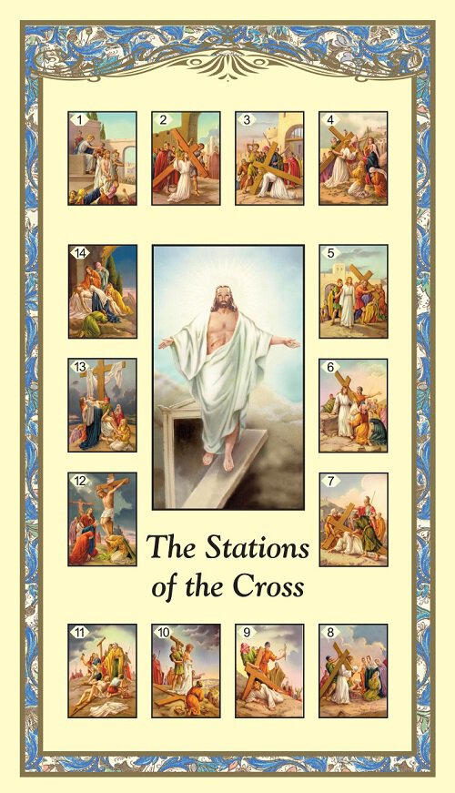 Stations of the Cross Holy Card - 100/pk