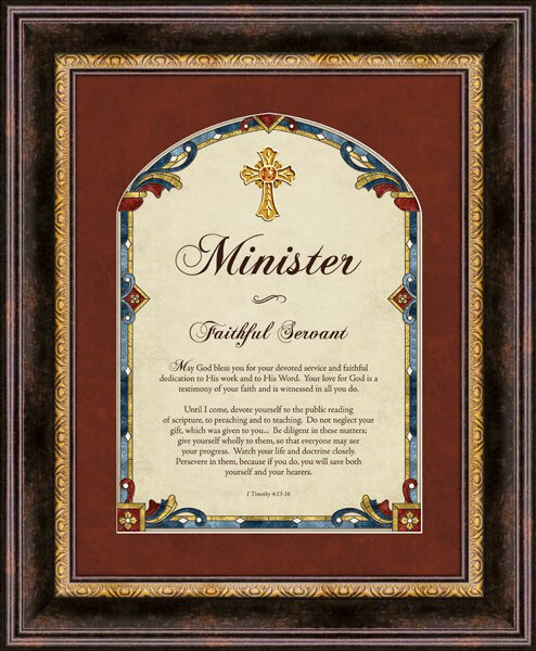Minister I Timothy 4:13-16 Framed Wall Art