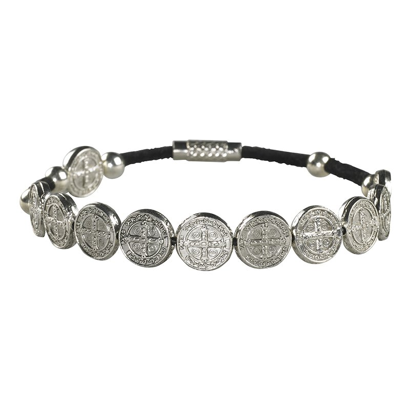 St Benedict Medal Rosary Bracelet - 12/pk