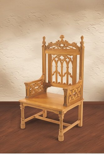 Canterbury Collection Celebrant Chair - Medium Stain
