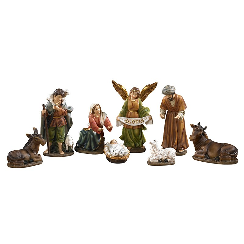 "6"" H 8-Piece Nativity Set with Detachable Infant"