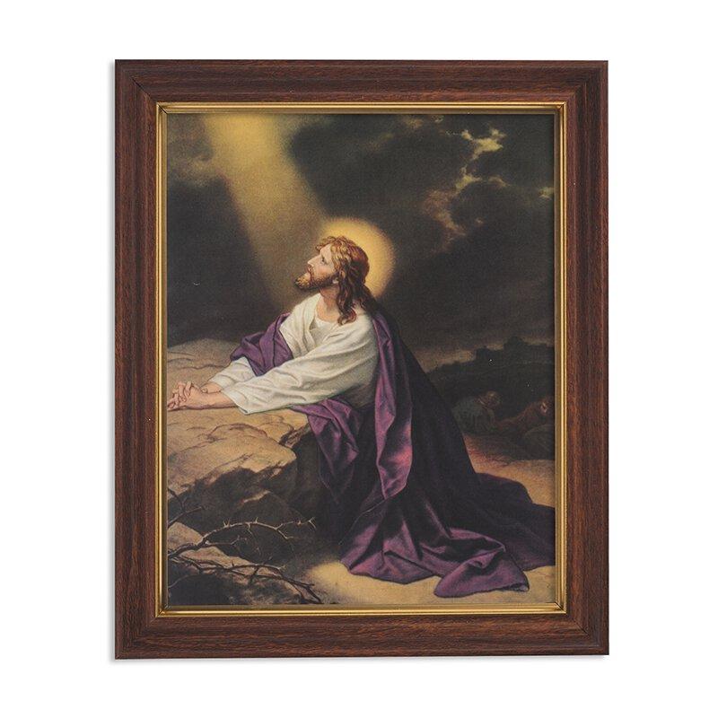 Gethsemane Framed Print - Wood Tone
