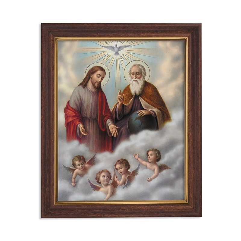 Holy Trinity Framed Print - Wood Tone