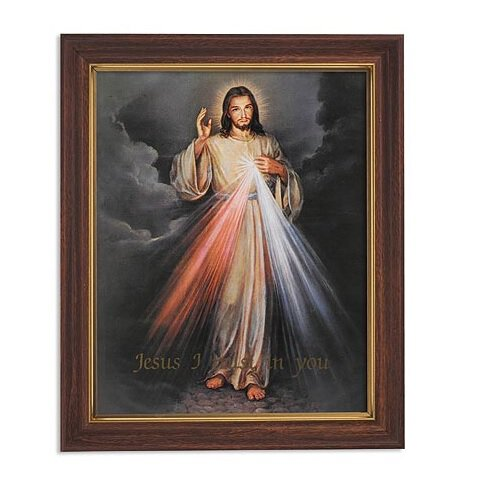 "FRM PRT 12.5"" The Divine Mercy"