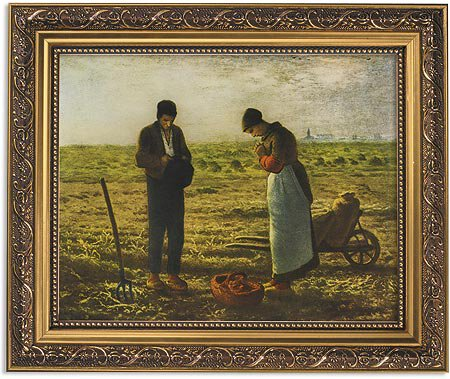 "Framed Print - 13"" Millet The Angelus"