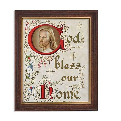 God Bless Our Home Framed Print