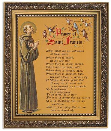 """FRM PRT 13"""" St Francis Peace"""