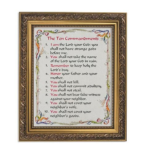 "FRM PRT 13"" Ten Commandments"