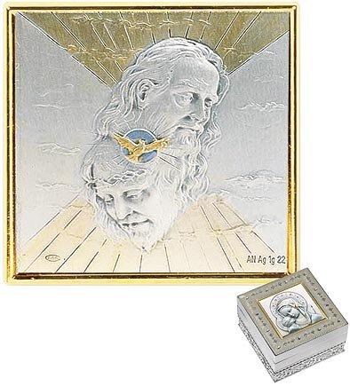 Holy Trinity Enamel Keepsake / Rosary Box