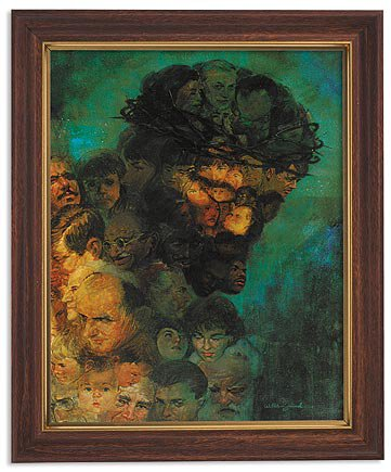 Zdinak: In His Image Framed Print - Wood Tone