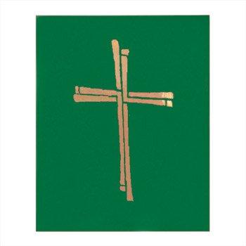 Ceremonial Binder with Cross Design - Green