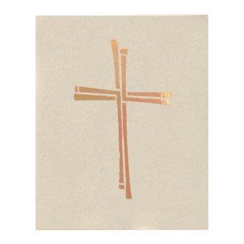 Ceremonial Binder with Cross Design - Ivory