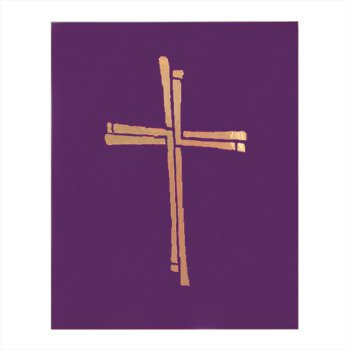 Ceremonial Binder with Cross Design - Purple