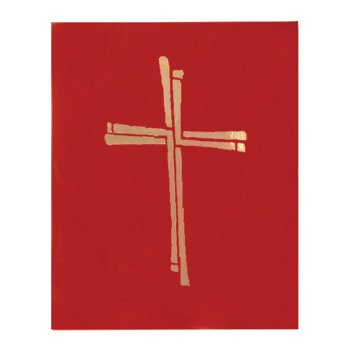 Ceremonial Binder with Cross Design - Red