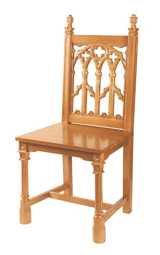 Maple Hardwood Medium Oak Finish Side Chair