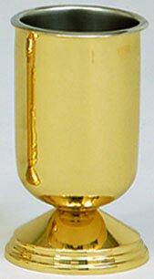 Vase Brass W/Liner