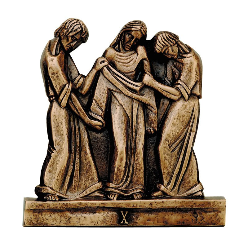 Cast Bronze Stations of The Cross - Set of 16