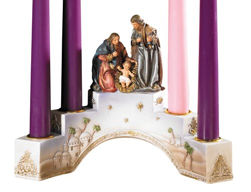 Tiered Nativity Advent Candleholder