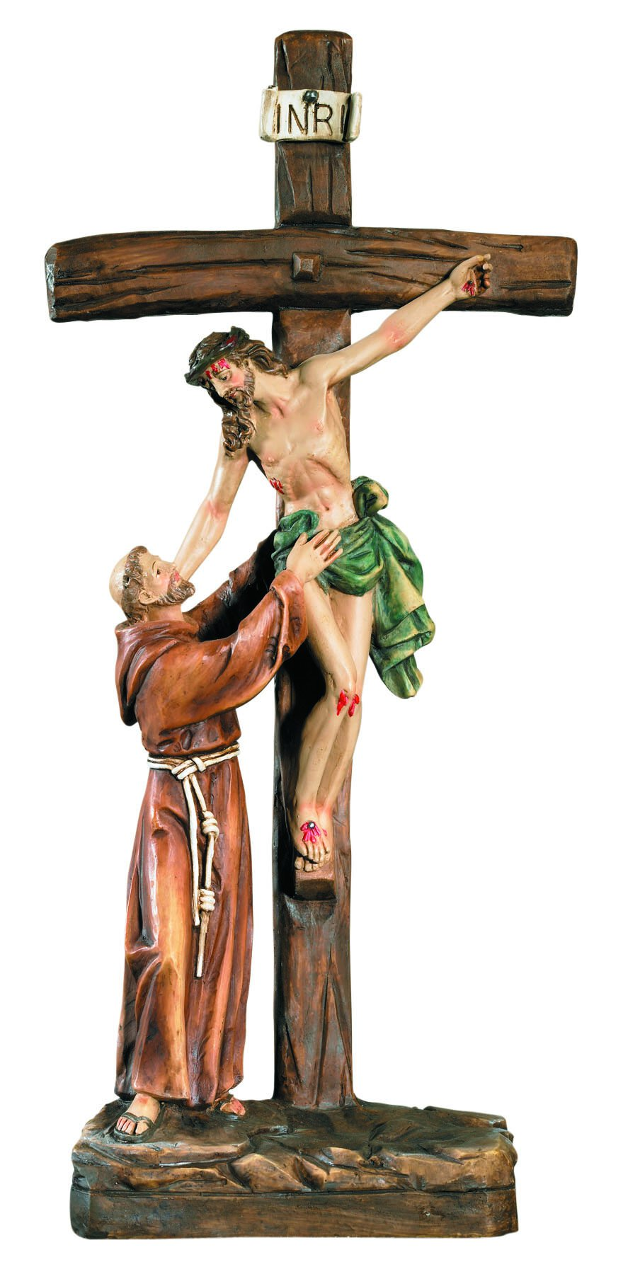 St Francis At Crucifix Stand