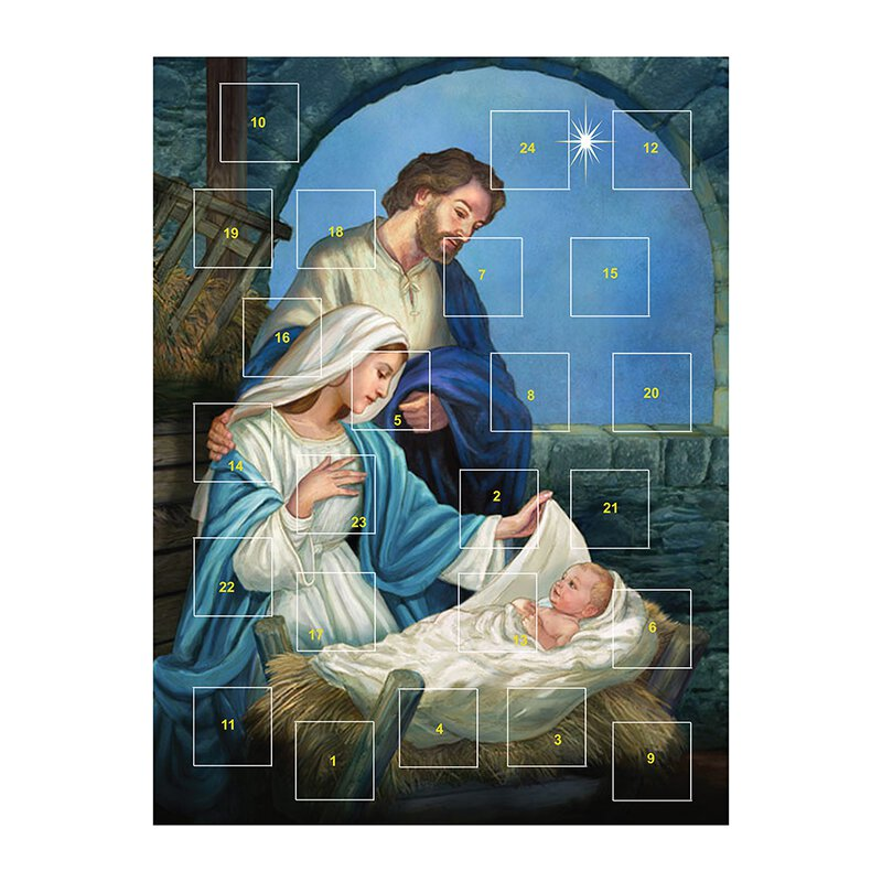 Come Let Us Adore Him Advent Calendar - 12/pk
