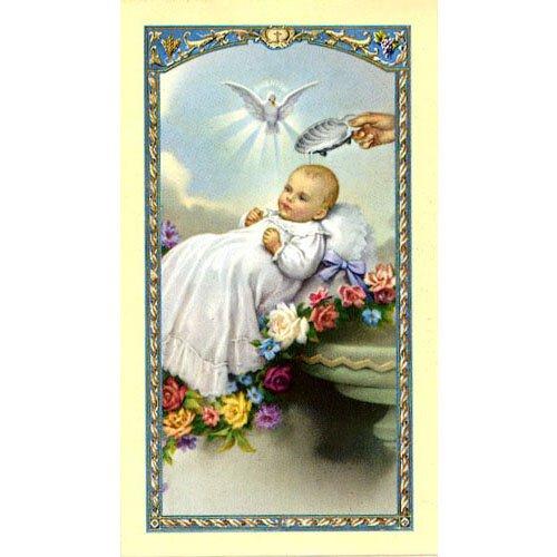 God sent You the Best - Baptismal Holy Card