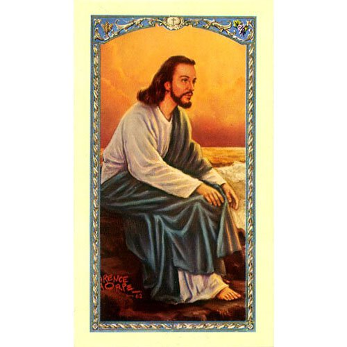 No Time - Christ at Seaside Holy Card