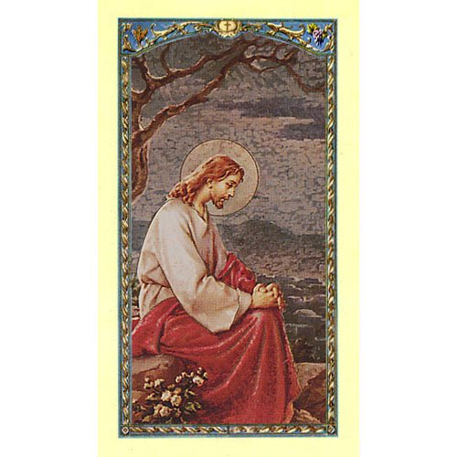 Christ in the Garden - Pray for Me Holy Card