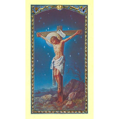 Sonnet to Christ Crucified Holy Card