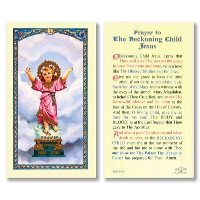 Divino Niño Laminated Holy Card - 25/pk