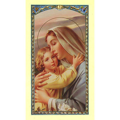Invocations to Mary Holy Card