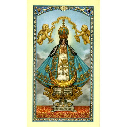 Our Lady of San Juan Holy Card