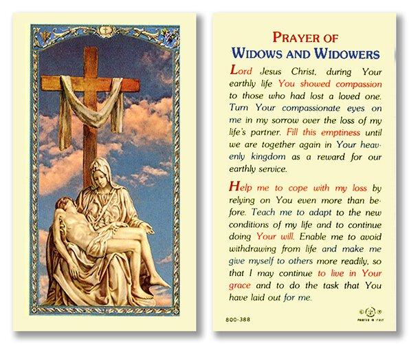 Prayer of Widows and Widowers Holy Card