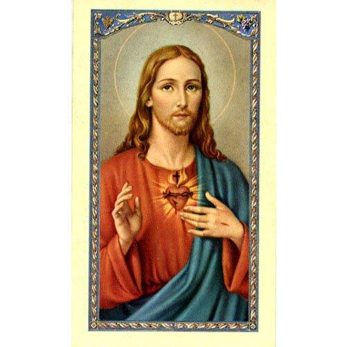 Sacred Heart Prayer Enshrining Picture