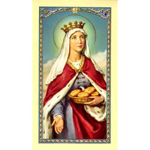 Saint Elizabeth of Hungary Holy Card