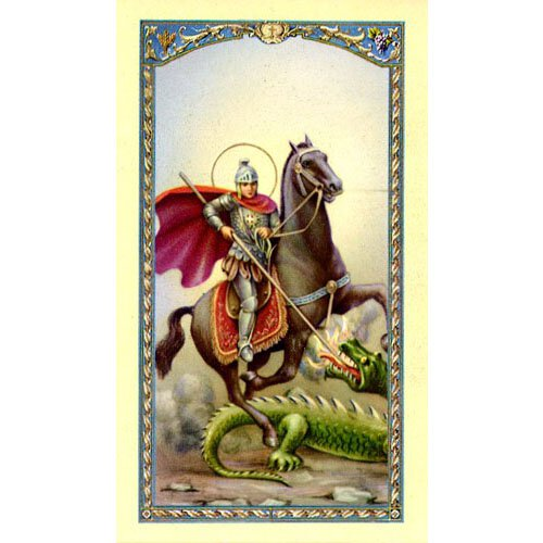 St. George Laminated Holy Card - 25/pk
