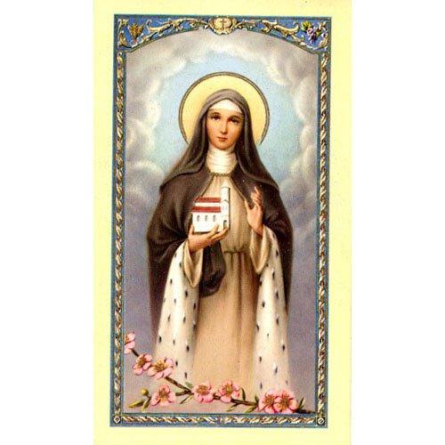 Saint Hedwig Holy Card