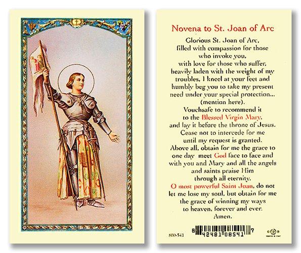 Saint Joan of Arc Holy Card