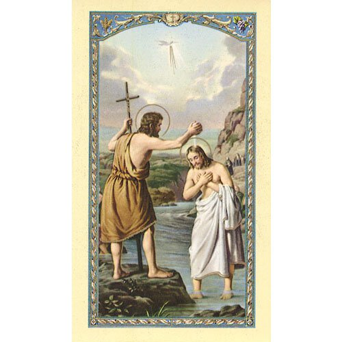 St John the Baptist Bio Holy Card