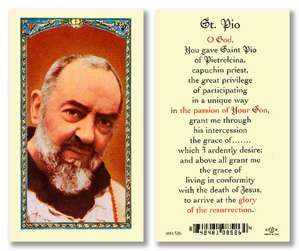 Prayer for Pio Holy Card