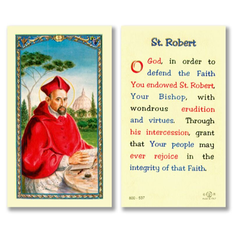 St. Robert Laminated Holy Card with Prayer - 25/pk