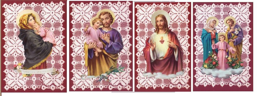 Gerffert Traditional Holy Card with Blank Back (12 Asst) - 100/pk
